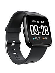 baratos -Pulseira inteligente JSBP-Y7 para Android iOS Bluetooth Esportivo Impermeável Monitor de Batimento Cardíaco Medição de Pressão Sanguínea Tela de toque Podômetro Aviso de Chamada Monitor de Atividade