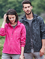 cheap -Unisex Hiking Windbreaker outdoor Autumn / Fall Spring Windproof Lightweight Rain-Proof Nylon Spandex Jacket Top Single Slider Camping / Hiking / Caving Traveling