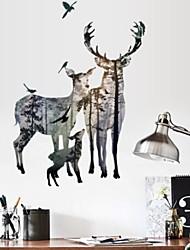 Недорогие -Декоративные наклейки на стены - Наклейки для животных Рождество Спальня
