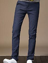 abordables -Hombre Algodón Chinos Pantalones - A Cuadros