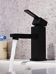 Недорогие -Ванная раковина кран - Водопад / Широко распространенный Живопись Настольная установка Одной ручкой одно отверстие