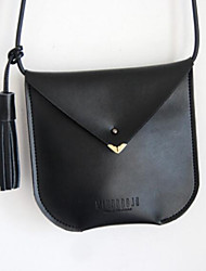cheap -Women's Bags Cowhide Mobile Phone Bag Zipper / Tassel Black