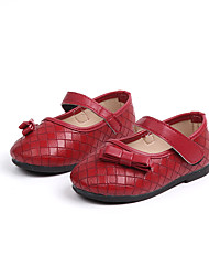 cheap -Girls' Shoes PU(Polyurethane) Spring &  Fall Flower Girl Shoes Flats Walking Shoes Buckle for Kids Black / Red / Dark Brown