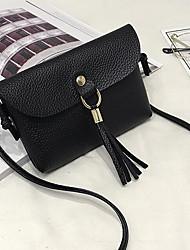 Недорогие -Жен. Мешки PU Мобильный телефон сумка С кисточками Черный / Розовый / Серый