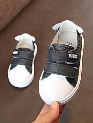 Недорогие -Мальчики Обувь Кожа Весна & осень Обувь для малышей Кеды На липучках для Дети Темно-синий / Коричневый