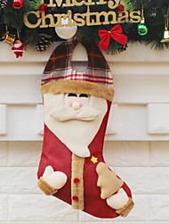 baratos -Meias de Natal Desenho Poliéster Quadrada Desenho Animado Decoração de Natal