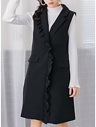 cheap -women's long vest - solid colored