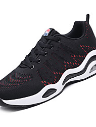 cheap -Men's Mesh Fall Comfort Athletic Shoes Walking Shoes Black / White / Black / Red
