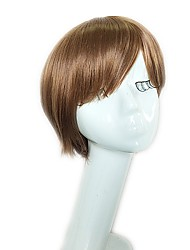 cheap -Synthetic Wig Straight Layered Haircut / Short Bob Synthetic Hair 10 inch Women / Synthetic / Natural Light Brown Wig Women's Short Capless Light Brown / Natural Hairline