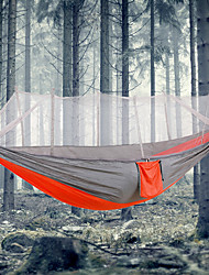 cheap -Camping Hammock with Mosquito Net Outdoor Portable, Lightweight, Anti-Mosquito Nylon for Camping / Camping / Hiking / Caving / Outdoor - 1 person Orange / Yellow