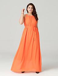 זול -כתפיה מידי רשת, אחיד - שמלה מידות גדולות חוף בגדי ריקוד נשים