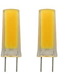 Недорогие -3w g8 светодиодная силиконовая лампочка smd 0930 cob для освещения домашнего освещения в домашних условиях ac 110v 120v теплый / холодный белый (2 шт)