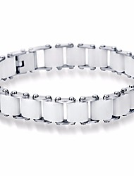 cheap -Men's Classic Bracelet - Stainless Creative Geometric, Basic, Casual / Sporty Bracelet White / Black For Daily / Going out