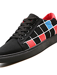 cheap -Men's Canvas Spring Light Soles Sneakers Color Block Pink / White / Black / White / Black / Red