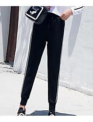 abordables -Mujer Básico Pantalones de Deporte Pantalones - A Rayas