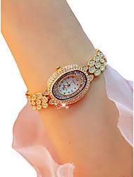 baratos -Mulheres Relógio de Pulso Cronógrafo / Luminoso / Relógio Casual Lega Banda Brilhante / Rígida Prata / Dourada