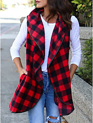 cheap -women's long vest - color block