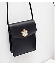baratos -Mulheres Bolsas PU Telefone Móvel Bag Cor Única Vermelho / Rosa / Cinzento Claro