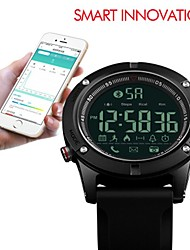 Недорогие -SKMEI Муж. Спортивные часы электронные часы Цифровой силиконовый Черный 50 m Защита от влаги Bluetooth Хронометр Цифровой Роскошь На каждый день - Черный / Фосфоресцирующий