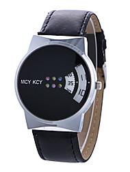 preiswerte -Damen Modeuhr / Einzigartige kreative Uhr Kreativ Leder Band Freizeit Schwarz / Weiß / Ein Jahr / Tianqiu 377
