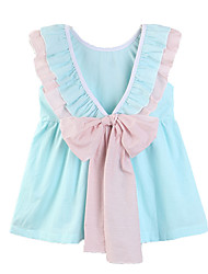 cheap -Baby Girls' Solid Colored Short Sleeve Dress