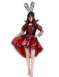cheap -Witch Costume Women's Halloween Carnival Masquerade Festival / Holiday Halloween Costumes Outfits Rose Solid Colored Lace Halloween Halloween