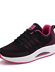 cheap -Women's Shoes Knit Spring Comfort Athletic Shoes Walking Shoes / Swing Shoes Flat Heel White / Black / Black / Red