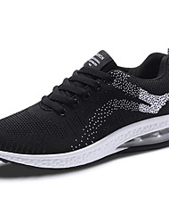 cheap -Women's Shoes Elastic Fabric Spring & Summer Comfort Athletic Shoes Running Shoes Flat Heel Dark Blue / Black / White / Black / Red