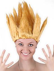 billige -Syntetiske parykker / Kostumeparykker Lige Bob frisure Syntetisk hår 20 inch Cosplay / Fest / Til europæisk Rød / Brun Paryk Herre / Dame Mellemlængde Maskinproduceret