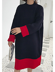 povoljno -Žene Dugih rukava Duga Pullover Color block