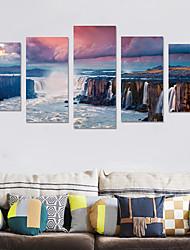 Недорогие -Декоративные наклейки на стены - Простые наклейки / 3D наклейки Пейзаж Гостиная / Спальня
