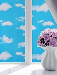 abordables -Film de fenêtre et autocollants Décoration Mat / Moderne Géométrique PVC Autocollant de Fenêtre / Mat