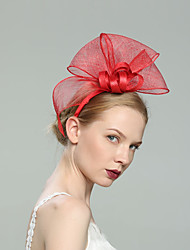 cheap -Flax Fascinators with Solid 1pc Wedding / Special Occasion Headpiece