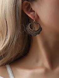 abordables -Femme Boucles d'oreille goutte - Fleur Rétro, Bohème, Hyperbole Or / Noir / Argent Pour Cadeau / Quotidien / Plein Air