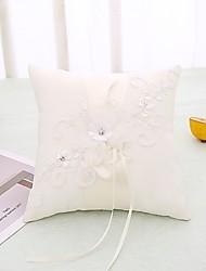 cheap -Cloth Demin Lace / Crystal / Rhinestone Satin Ring Pillow Beach Theme / Garden Theme / Butterfly Theme All Seasons