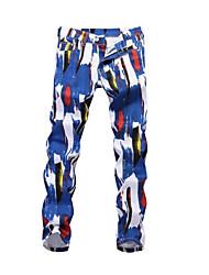 cheap -Men's Street chic Chinos Pants - Geometric Blue & White, Print