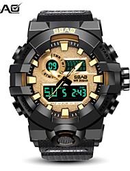 Недорогие -Муж. Спортивные часы электронные часы Цифровой Стеганная ПУ кожа Черный / Красный / Зеленый 50 m Защита от влаги Календарь Хронометр Аналого-цифровые Роскошь На каждый день - Красный Зеленый Синий