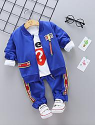 billige -Baby Drenge Ensfarvet Langærmet Tøjsæt