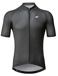 baratos -Mysenlan Homens Manga Curta Camisa para Ciclismo - Cinza Escuro Moto Camisa / Roupas Para Esporte Poliéster / Zíper YKK