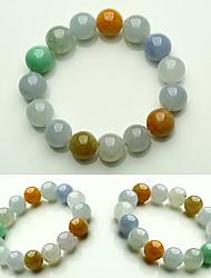 cheap -Men's Jade Beads Strand Bracelet - Creative, Ball Simple, Basic Bracelet Rainbow For Gift / Date