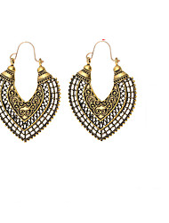 baratos -Mulheres Tanzanite sintética Longas Brincos Compridos - Criativo Vintage, Étnico, Fashion Dourado / Prata Para Festa de Noite Aniversário