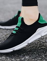 Недорогие -Муж. Кеды Резина Прогулки / Бег Легкость, Anti-Shake, Дышащий Дышащая сетка Белый / Черный / Зеленый
