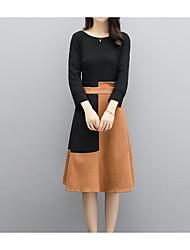 cheap -Women's Basic Set - Color Block Skirt