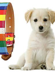 billige -Hunde Krave Justérbar Regnbue polyester Regnbue
