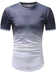 cheap -Men's T-shirt - Color Block Round Neck / Short Sleeve