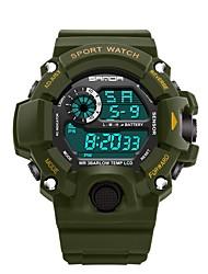 Недорогие -SANDA Муж. Спортивные часы электронные часы Японский Цифровой Черный / Тёмно-зелёный 30 m Защита от влаги Календарь Хронометр Цифровой Роскошь Мода - Синий Золотистый Темно-зеленый / Фосфоресцирующий