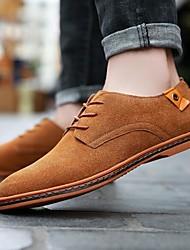 baratos -Homens Sapatos formais Camurça Primavera & Outono Oxfords Marron / Vermelho / Azul