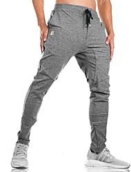 abordables -Hombre Bolsillo Pantalones de Running - Gris oscuro, Verde Ejército, Gris Deportes Color sólido Pantalones / Sobrepantalón Fitness, Rutina de ejercicio Ropa de Deporte Suave Microelástico