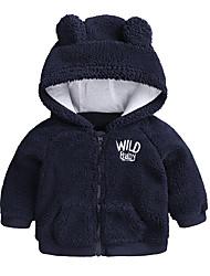 Недорогие -малыш Мальчики Классический На выход Однотонный Длинный рукав Хлопок Куртка / пальто