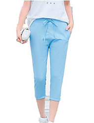 billige -Dame Basale Chinos Bukser Ensfarvet